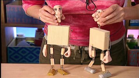 bauen mit kindern basteln mit kindern marionetten selber bauen