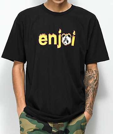 T Shirt Panda Black Metal Putih enjoi skateboards get free shipping zumiez