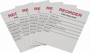 Red tag inventory reorder tags veterinary management for Inventory reorder tags