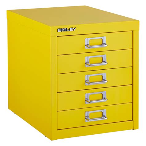 Bisley 5 Drawer Cabinet by Yellow Bisley 5 Drawer Cabinet The Container Store
