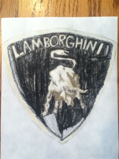 started drawing  lamborghini logo yesterday
