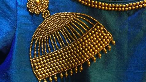 jhumka design  beads embroidery  kurtas simple
