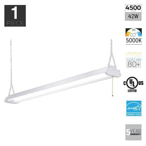 honeywell 4ft led shop light honeywell 42 watt white integrated led shop light