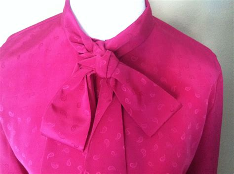 fuschia blouse pink oleg cassini blouse fuschia blouse