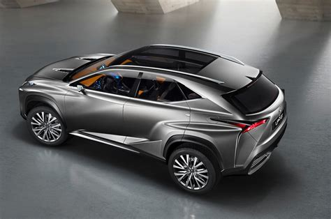 lexus crossover black lexus lf nx crossover concept is one mean looking hybrid