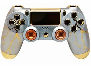 QuotGOLD THUNDERquot PS4 MODDED CONTROLLER ModdedZone