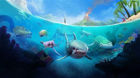 shark hungry wallpapers android ios games evolution sharks gems 4k animals megalodon hacked hack wallpapershome fish 5k game fhd 2k