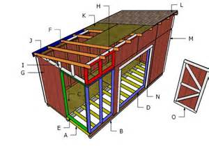 Diy 12x16 Storage Shed Plans by 8x16 Lean To Shed Roof Plans Myoutdoorplans Free