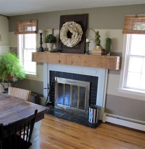 farmhouse mantel the painted home by sabia