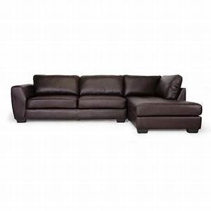 baxton studio orland brown leather modern sectional sofa With sears sectional sofa with chaise