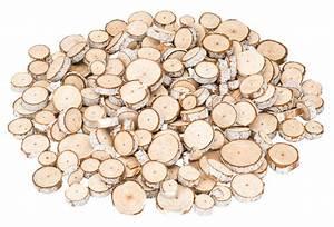 Naturholzplatte Mit Rinde : holzscheiben rund mit wei er rinde 0 5kg 3 6cm ~ Markanthonyermac.com Haus und Dekorationen