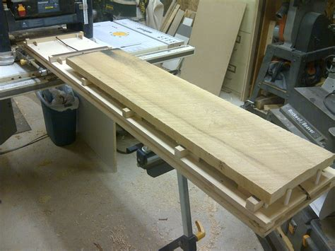 thickness planer jointing jig joint  wide board