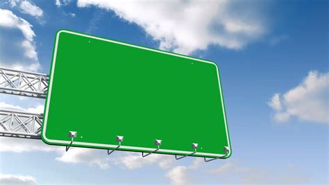 blank time lapse road sign stock footage video
