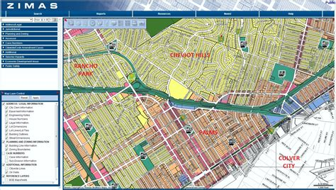 los angeles zoning map
