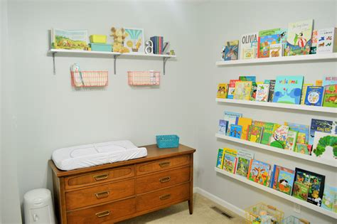 A Sweet Shelf And A Spot For Diapers Loving Here