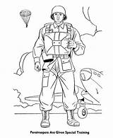 Coloring Pages Forces Special Armed Paratrooper Drawing Paratroopers Colouring Army Training Soldier Template Print Bomber Sheets Sketch Drawings Printable Coloringsun sketch template