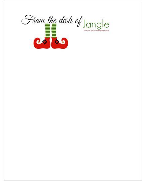 printable letters  santa  elves christmas