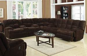 Monica recliner sectional sofa for Sectional sofas with 4 recliners