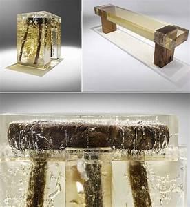 Table En Bois Et Resine : meubles nucleo l 39 art de m langer bois et r sine 10xl ~ Dode.kayakingforconservation.com Idées de Décoration