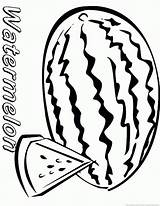 Watermelon Coloring Pages Fruit sketch template