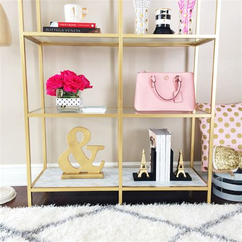 Diy Gold And Marble Shelves Bookcase Ikea Hack Stylish