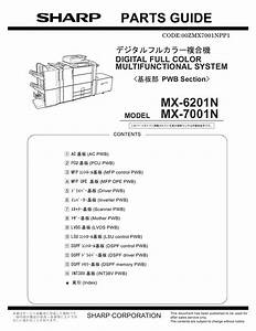 Sharp Mx 6201 7001 N Parts Guide Manual