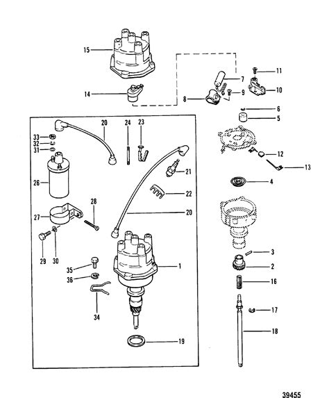 Mercruiser Ignition Coil Wiring Diagram by Distributor And Coil For Mercruiser 165 Hp 3 7l 170 Hp