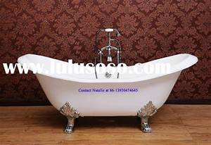 New Cast Iron Double Slipper Claw Foot Tub For Sale