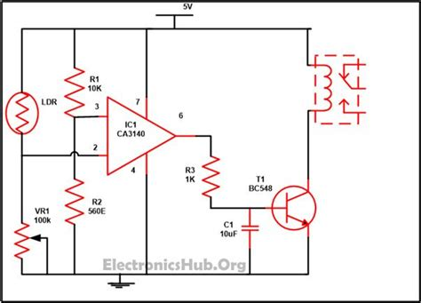 automatic light controller using relays and ldr