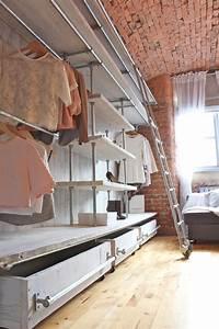 Think Different: Industrial Style Closet Designs Modern