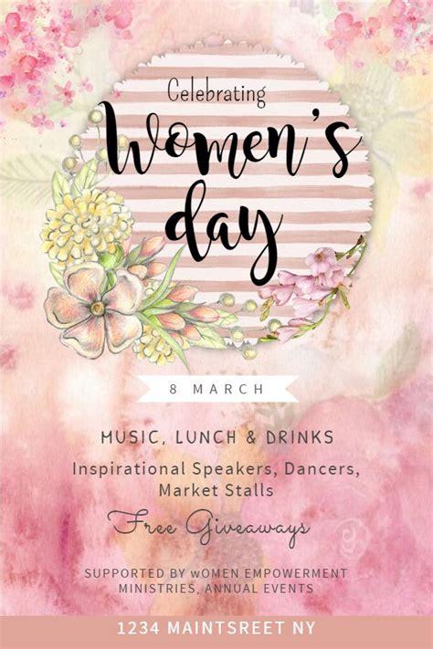 international womens day event flyerposter template