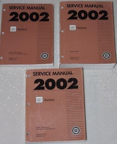 motor repair manual 1995 oldsmobile aurora free book repair manuals 2002 oldsmobile aurora factory service manual set original shop repair factory repair manuals