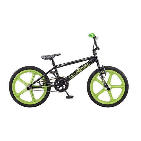 home security raleigh rooster big black green skyway mag wheels bmx bike