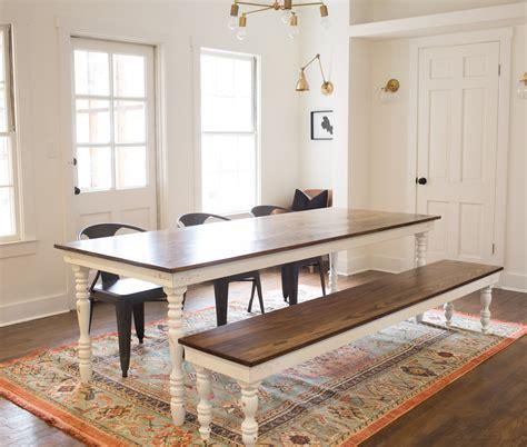 original farmhouse dining table harp design