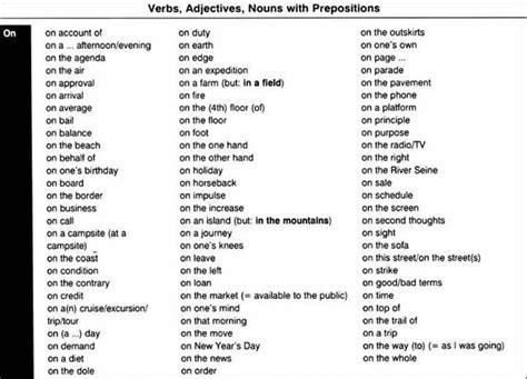 popular preposition collocations  esl images
