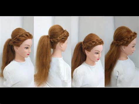 boho puff ponytail easy hairstyles youtube