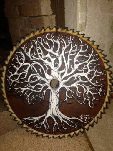 painting    blade  diy tree painting tole