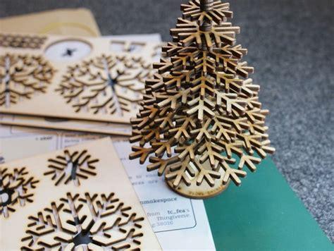 lasercut design files  snowflake christmas tree dxf