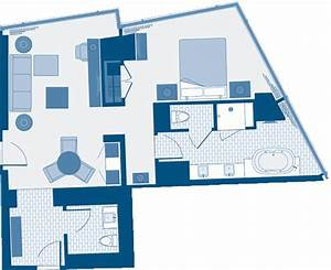 aria corner suite floor plan