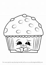 Muffin Coloring Shopkins Pages Drawing Mary Cupcake Step Printable Adults Getdrawings Draw sketch template