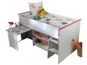 Chambre Enfant Conforama by Lit Sur 233 Lev 233 Combin 233 Moby Coloris Blanc Et Rose Vente De