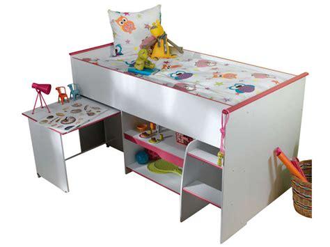 combiné lit bureau conforama lit surélevé combiné moby coloris blanc et vente de