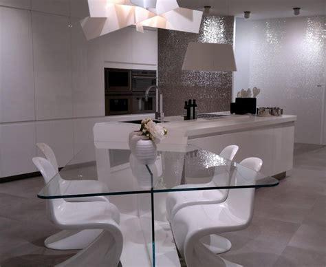 salle 224 manger avec table en verre 224 coins arrondis