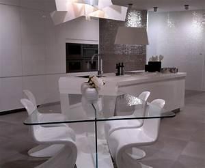 Table à Manger En Verre : table de salle a manger en verre design table a diner en bois maisonjoffrois ~ Teatrodelosmanantiales.com Idées de Décoration