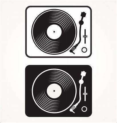 Vinyl Vector Record Turntable Disc Illustration Flat