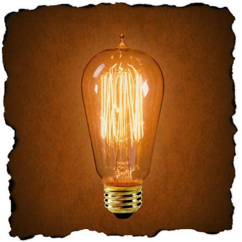 edison light bulb 1910 reproduction 40 watt