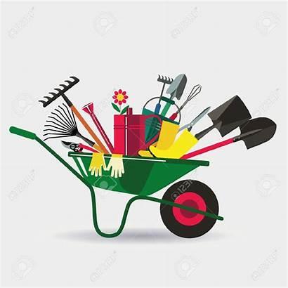 Garden Tools Clipart Digging Working Illustration Clip