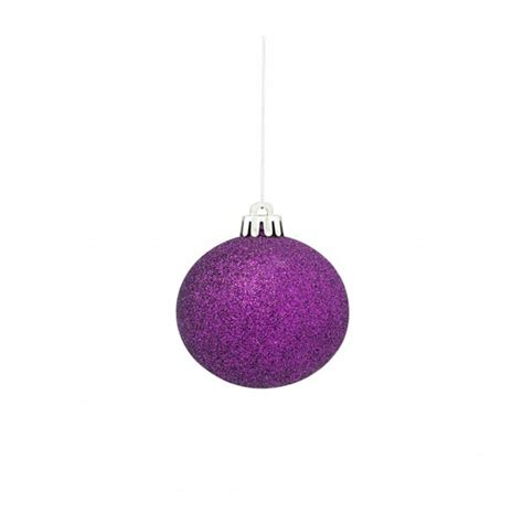 asda purple bauble 163 12 for twelve baubles and home