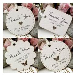 personalized cards wedding favors personalized white wedding favor thank you gift tags set a 5 designs gifts cards