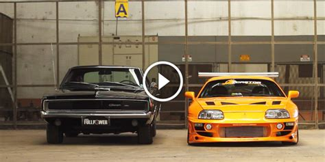 1995 Dodge Charger by 1995 Fast And Furious Toyota Supra 1968 Dodge Charger